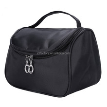 black travel nylon trolley makeup bag cosmetic bag set