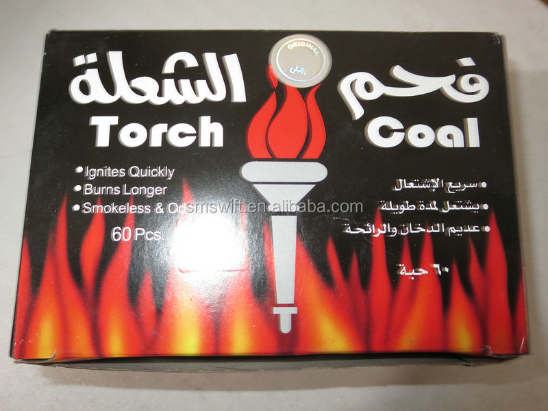 100% bamboo charcoal for hookah