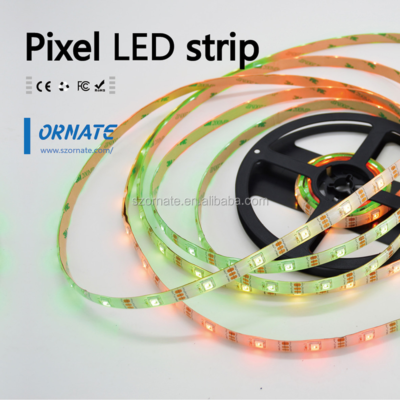 NEW type! sk6812 IC built-in RGB LED,5050 magic digital dream color addressable rgb led strip