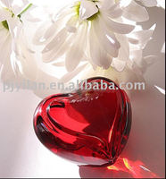 elegant crystal gift crystal payperweight heart shape crystal red diamond