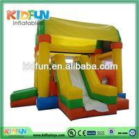 Customized useful inflatable bounce house slides combo