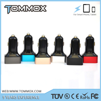 TOMMOX 2016 hot selling new 5V 7.2A 3 port usb car charger for all brand mobile phone