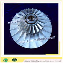 CNC machined turbine compressor wheel for turbine engine