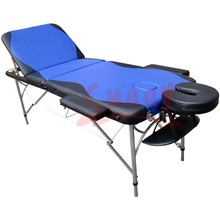 Folding Massage Bed 3 Section Face Hole Facial Spa Table Two-tone