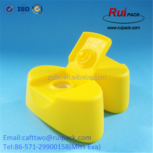 Food Grade 28mm ovel snap on flip top cap with plug seal and silicone valve