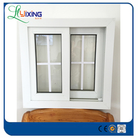 Cheap house sliding glass pvc casement window
