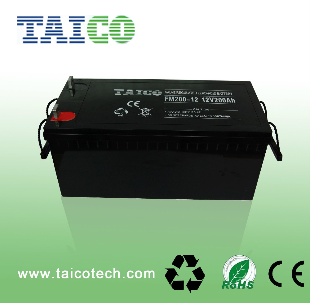 36months Warranty lead acid Solar gel battery 12v 250ah 200ah batteries