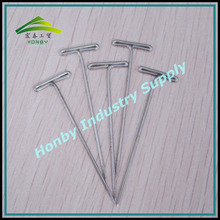 Shoes Accessories 44mm Glossy Nickel Plated Rustproof Steel T Head Shoes Design Stick Pin