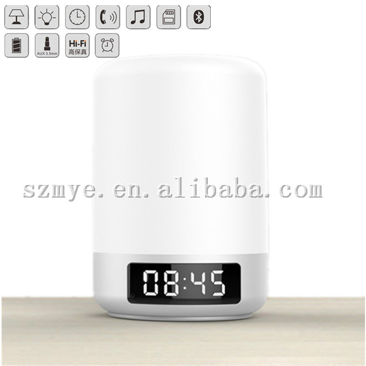 2016 hot selling music speaker touch dimmer bluetooth 3w led touch wake up lamp light