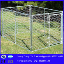 10X10X6 hot dip galvanized chain link dog kennel