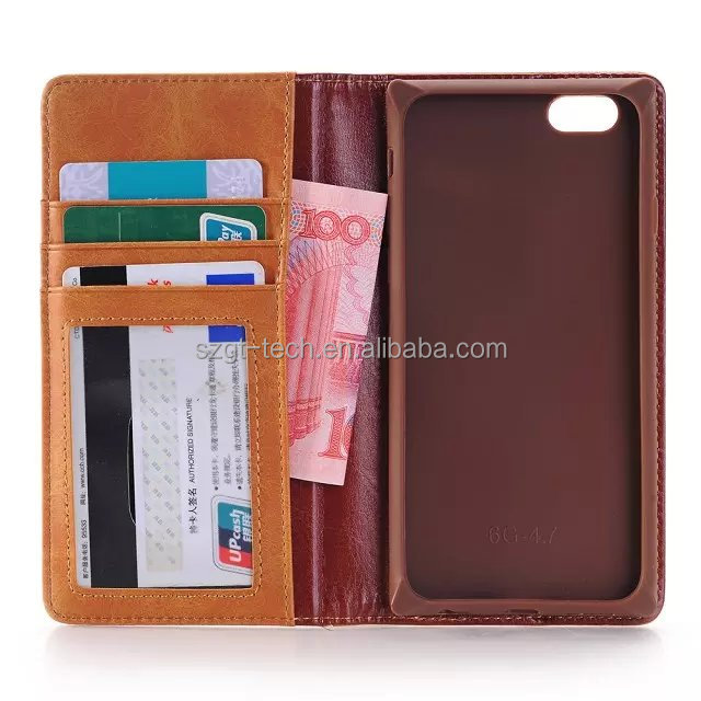 2016 Amazon denim Jeans Diary wallet Mobile Phone Flip stand Leather PU cover case for iPhone6 6s plus storage pouch