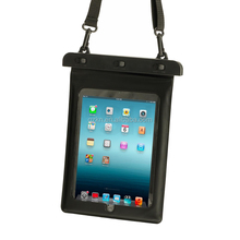 Swimming waterproof bag case for iPad air with shoulder strap