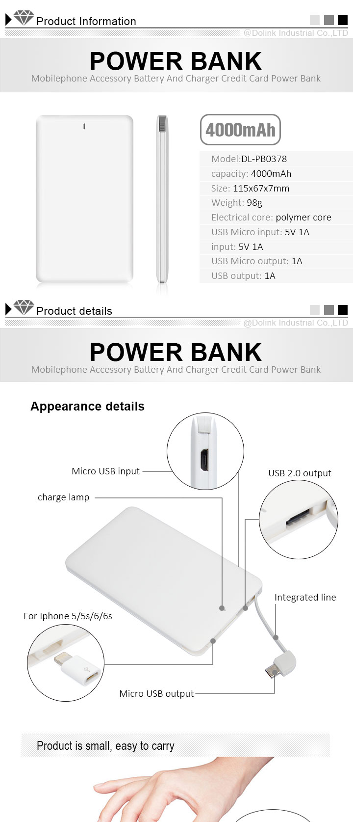 Promotion Christmas Gift Intelligent Fast Charging 4000Mah Power Bank,Mini Portable Mobile Smart Phone Power Banks