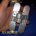 zinc alloy 180 degree 3d adjustable concealed hinge for light duty doors