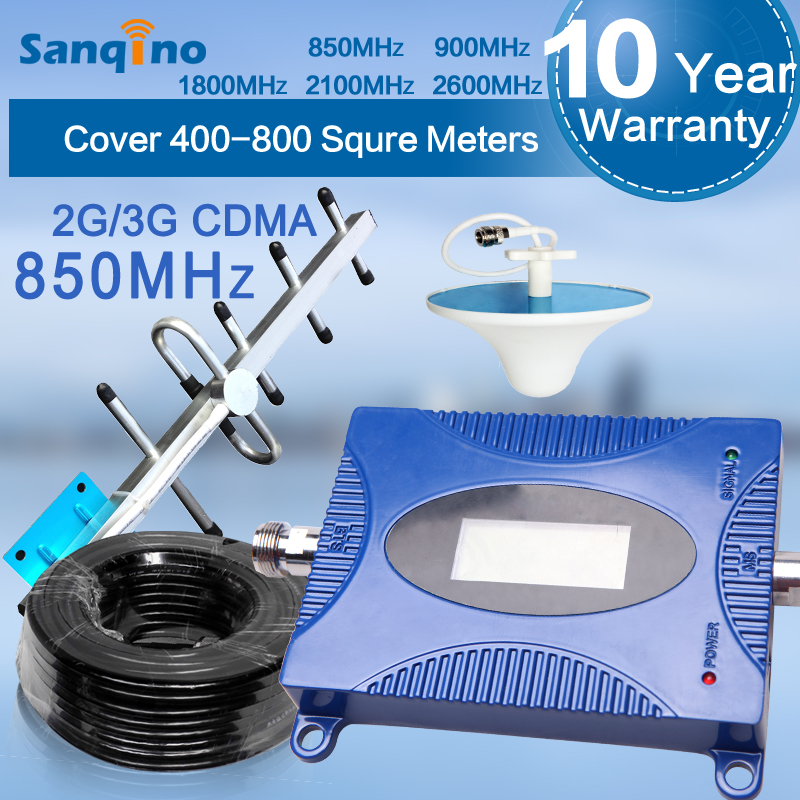Sanqino Full Kit Series CDMA 850mhz mobile cell phone network signal repeater for enhancing your mobile signal