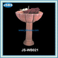 Hand Carved Indoor Decorative Red Natural Stone Wash Basin