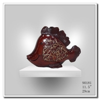 meizhou resin Crafts Home Decoration Crafts Chinese Old Copper Fish Figurine wedding decoration of garden decoration