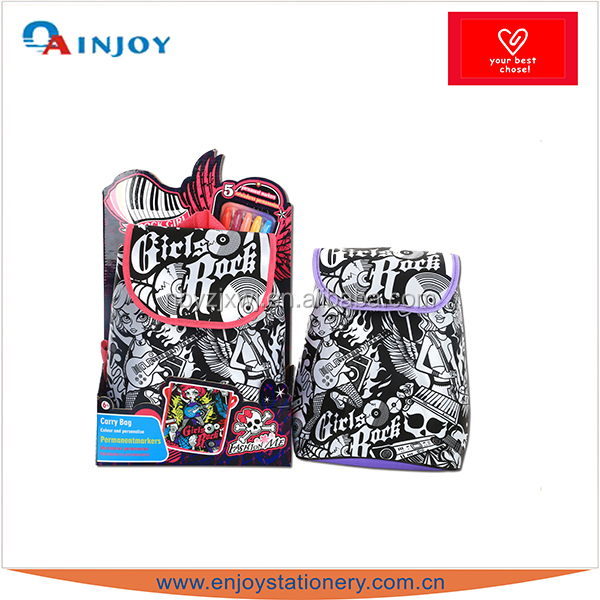 Rock Girl coloring paint creative bag new design
