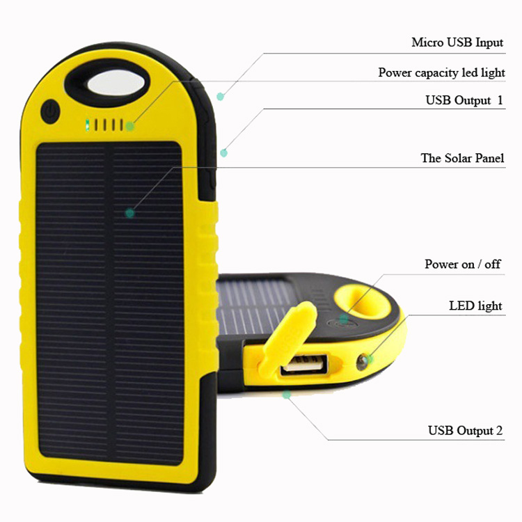 2017 trending products solar power bank electronics power bank