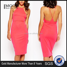 MGOO High Quality Cutout Halter Dress OEM Services Ladies Office Wear Dresses 2015 Wholesale Dress K071401
