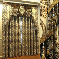 China supplier middle east curtains with luxury valances patterns