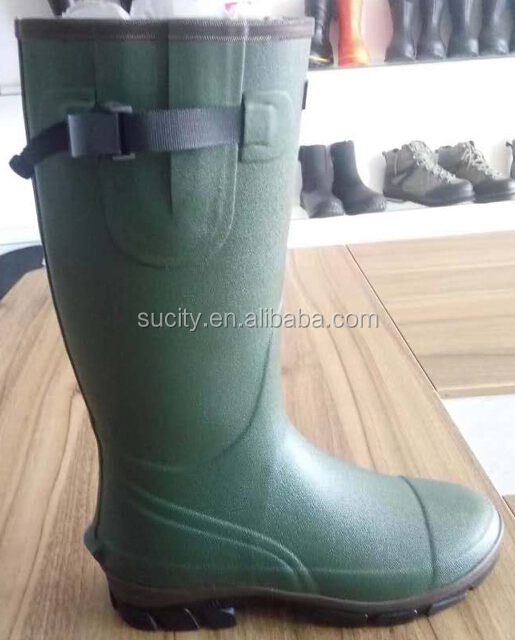 2017 men's supper waterproof 5mm neoprene rubber rain boots