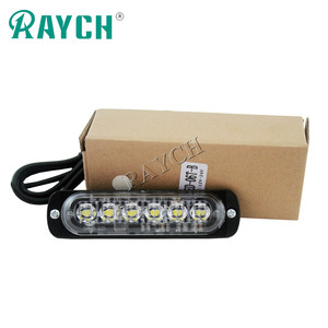 Car Styling 6 LED Car Mini Emergency Light Bar 18 Flashing Mode 12V/24V led Strobe light for Universal Vehivle or Truck
