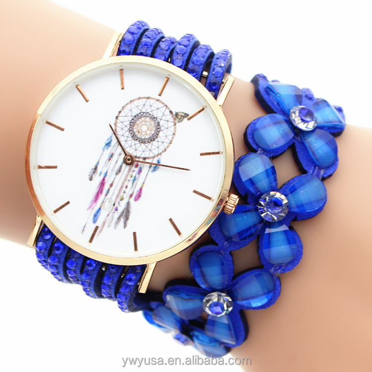 2016 fashion OEM manufacturer luxury diamond women watch leather quartz watch lady