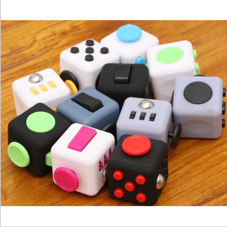 Finger Toys Squeeze Fun Stress Reliever High Quality Antistress Cube With Box