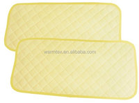 Bamboo Changing Pad Liners Waterproof Washable Protector For Diaper Change Pad Travel Changing Mat 2 pieces (Light Yellow Col