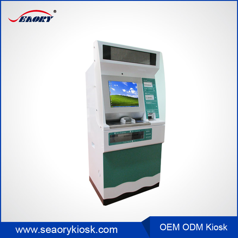 15 inch Touch Screen Ticket Vending bill payment Self-service Terminal Kiosk