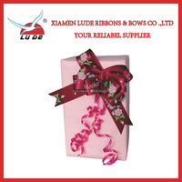 2015 printed polyester ribbon pull bows for packing
