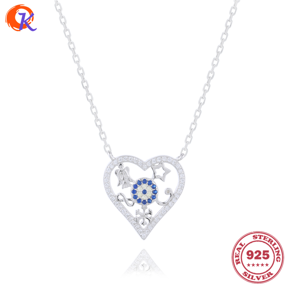 Popular Product 100% 925 Sterling CZ Vintage Heart Pendant Necklaces Jewelry Classical Designs CDSN-0098