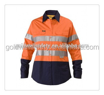 Alibaba wholesale long sleeve 100 cotton high visibility for Wholesale high visibility shirts