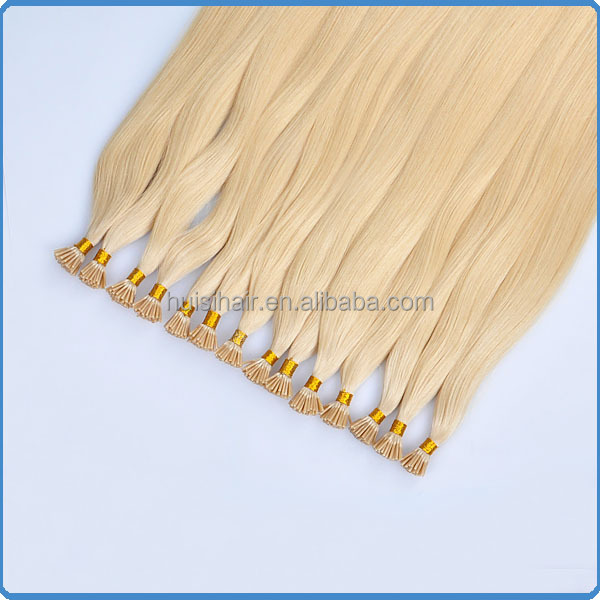 Factory direct sale new stock price Italian keratin products Malaysian 100g/pack color 613 I tip hair