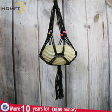 Macrame Plant Hanger Indoor Outdoor Hanging Planter Basket 4 legs Cotton Rope