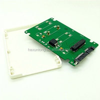 "Wholesale Mini PCI-E mSATA SSD to 2.5"" SATA Enclosure Converter Adapter With Case"