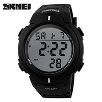Fashion plastic watch waterproof big face cheap custom digital watch unisex 1068