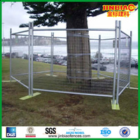 Anping jinbiao hot dipped temporary security fence(26 years manufacture)