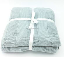 ZERO DEFECT 7gg 100% acrylic cotton 3D stripe knit sweater fabric pillow cushion covers throw blanket