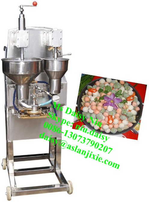 automatic stuffed beef ball making machine/meat ball making machine/beef ball maker machine