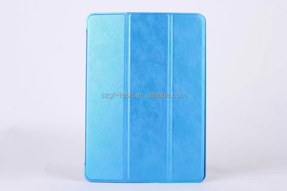 super slim 9.7inch auto sleep wake magnet smart case for ipad air 2 leather flip case