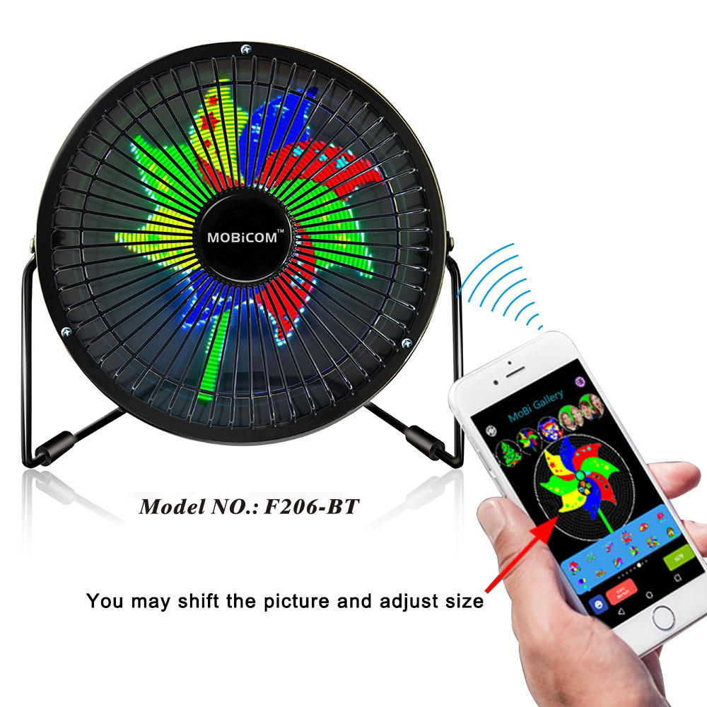 New Custom portable multi-function usb driver LED Message Clock Ceiling Fan