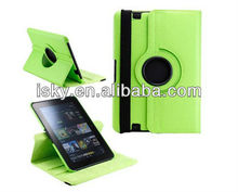 "Green 360 Degree Rotating Magnetic Leather Case Smart Cover Stand for Amazon Kindle Fire HD 8.9"" tablet case"