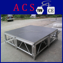 Decoration light circular roof truss aluminum stage for outdoor/indoor events