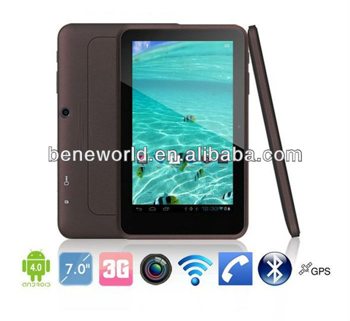 7inch MTK8377 low cost 3g tablet pc phone with dual sim card 2G/3G calling function