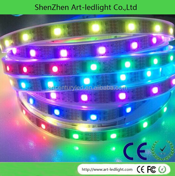 magic ws2812 ws2801 led strip light ws2812b Addressable Color ws2801 led Light Strip 60 strip 5050 RGB SMD WS2811 IC