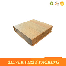 Wood gain cardboard flip top box special fake wood paper packaging box