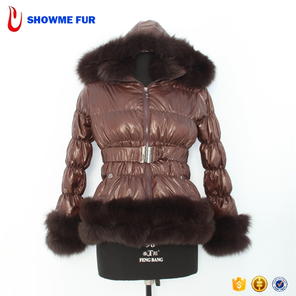 Hot Sell Brown Lady Feather Down Jackets Turkey Sale