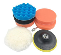Car Polishing Wheel Kits Buffer Car Polishing Wave Foam Polishing pads